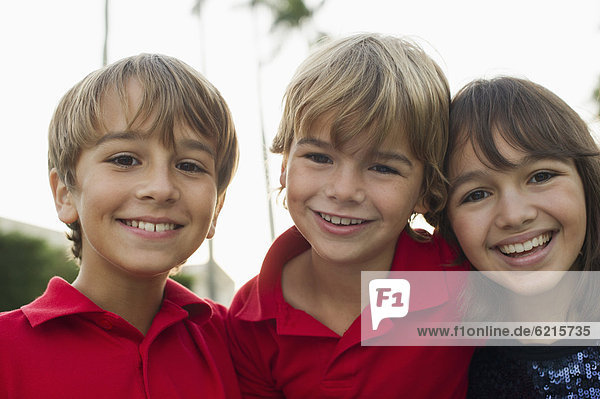 Europäer  lächeln  Junge - Person  Mädchen