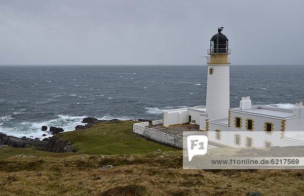 Europa Großbritannien Highlands Schottland stürmische See