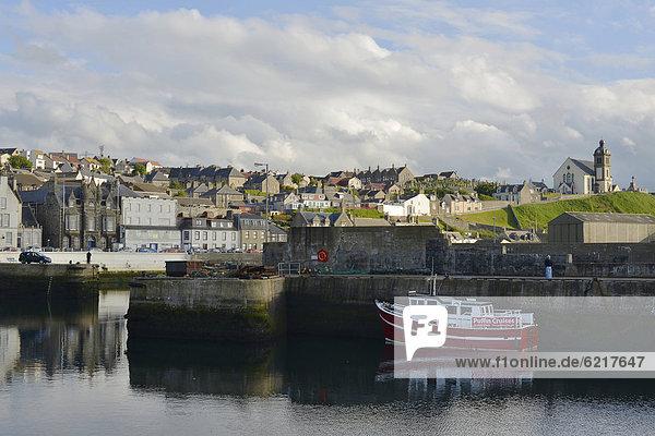 Hafen Europa Großbritannien Kai Schottland