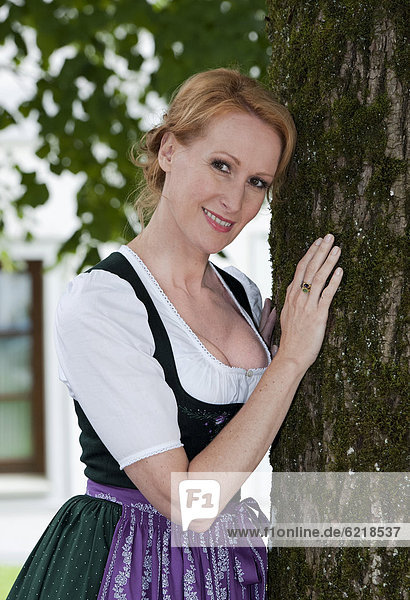 'Actress Nicole Beutler at a photo call  filming the TV movie ''Die Landaerztin'' or The Country Doctor in Grossraming  Upper Austria  Austria  Europe'