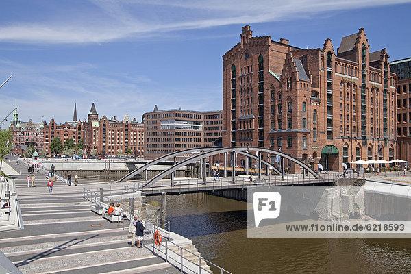 Maritime Museum  HafenCity quarter  Hamburg  Germany  Europe  PublicGround
