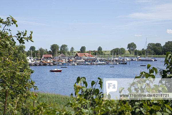 Yachthafen  Kirchdorf  Insel Poel  Mecklenburg-Vorpommern  Deutschland  Europa