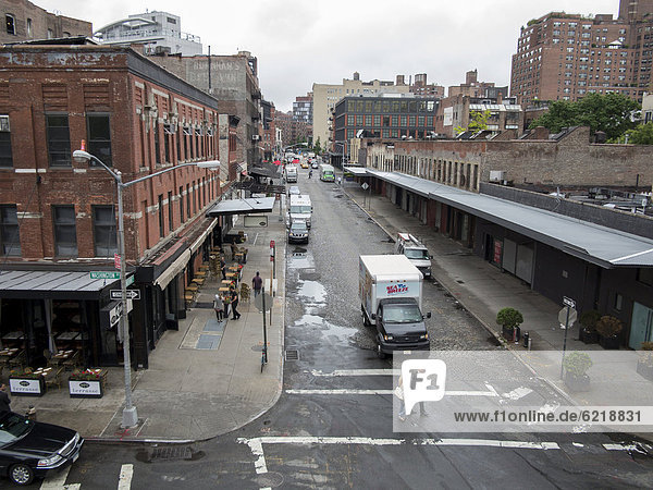 Street in the Meatpacking District  Manhattan  New York City  USA  North America  America