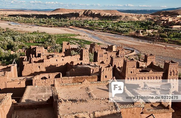 the ancient kasbah of Ait Benhaddou UNESCO World Heritage Site  Morocco