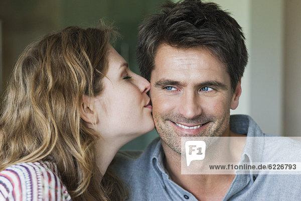Nahaufnahme eines romantischen Paares