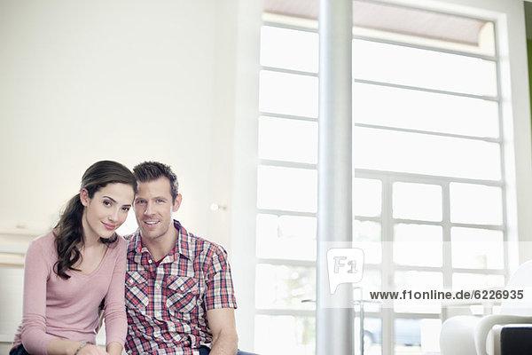Porträt eines romantischen Paares