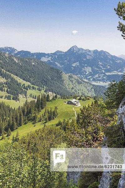 Europa Alpen Bayern Deutschland Mangfallgebirge