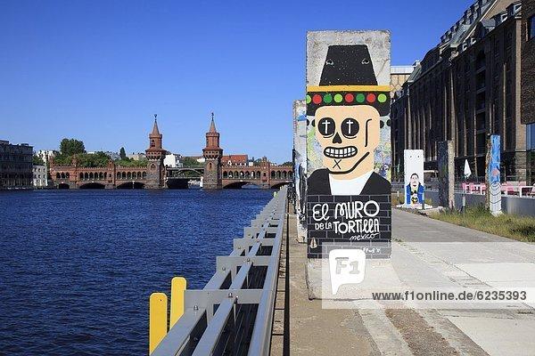 Reste der Berliner Mauer am Spreeufer,  Deutschland