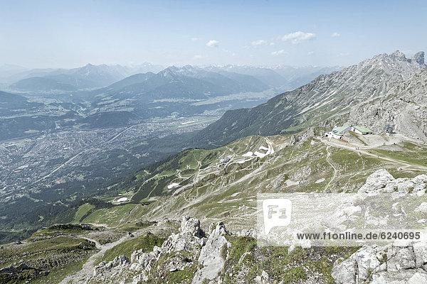 Europa Ansicht Österreich Hafelekarspitze Innsbruck Seegrube Tirol