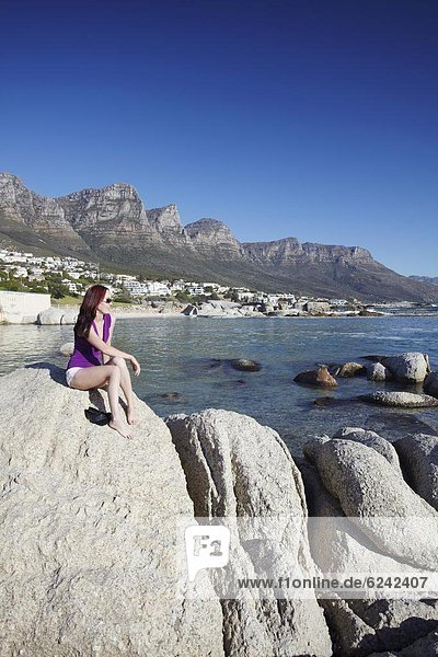 Südliches Afrika  Südafrika  Frau  Hintergrund  camping  Afrika  Bucht  Kapstadt  Western Cape  Westkap
