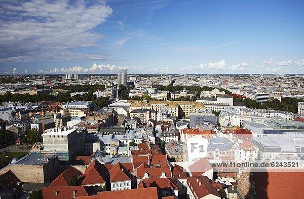 Europa  Stadt  Hintergrund  Ansicht  Riga  Hauptstadt  Lettland  neu  alt