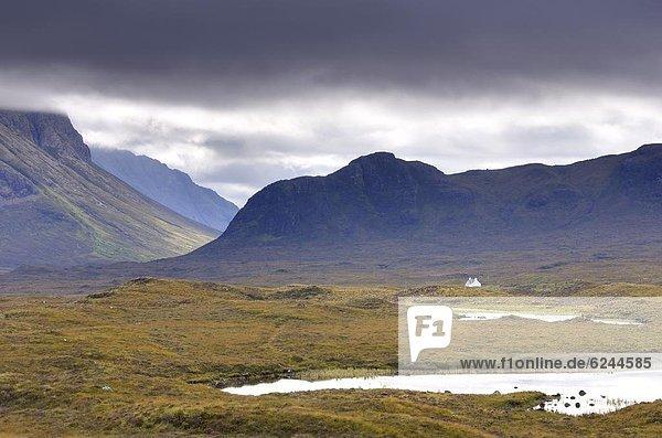 nahe Europa Großbritannien Highlands Öde gekalkt Isle of Skye Schottland
