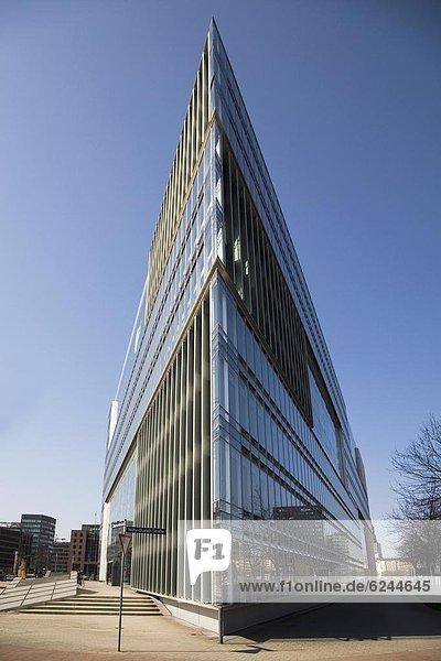 Europa  Glas  Architektur  eckig  Design  Hamburg - Deutschland  Deutschland  modern