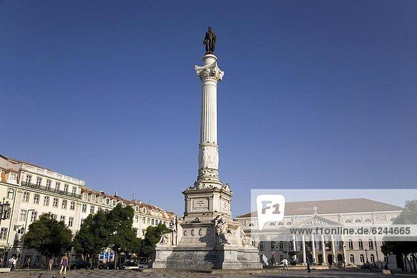 Denkmal  Lissabon  Hauptstadt  Europa  Infusion  frontal  König - Monarchie  Portugal  Rossio  Praça de D. Pedro IV