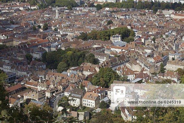 Frankreich  Europa  über  Großstadt  Ansicht