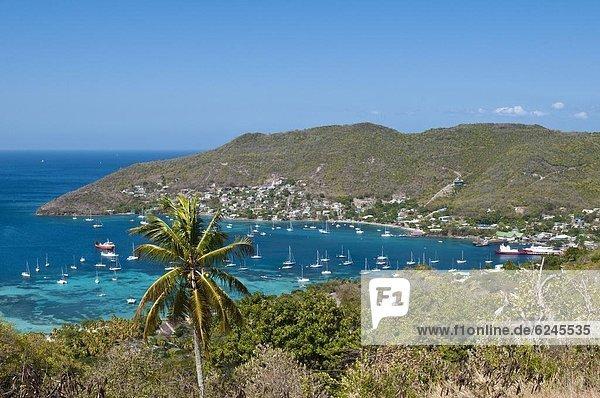Hafen von Port Elizabeth  Bequia  St. Vincent und die Grenadinen  Windward-Inseln  West Indies  Caribbean  Central America