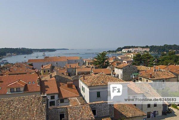 Europa  über  Ansicht  UNESCO-Welterbe  Basilika  Jahrhundert  Kroatien  Istrien