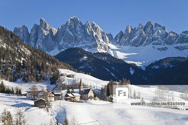Europa  Dolomiten  Trentino Südtirol  Italien  val di funes