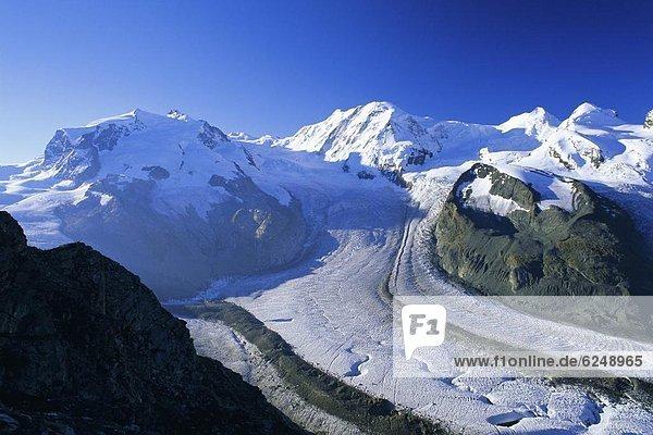 Europa Westalpen Schweiz Zermatt Schweizer Alpen