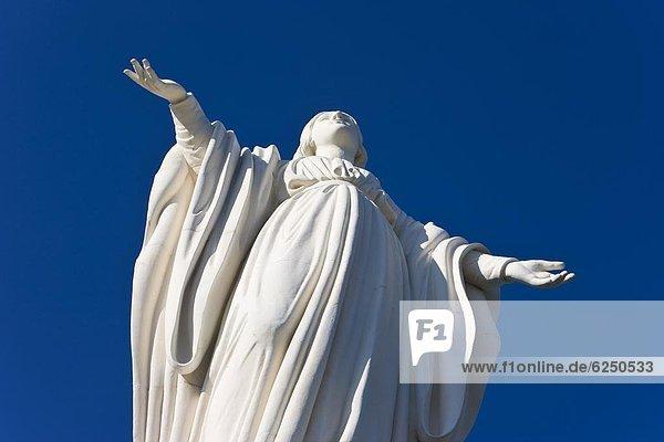 Großstadt  Ignoranz  Statue  Regenwald  Jungfrau Maria  Madonna  Chile  Südamerika