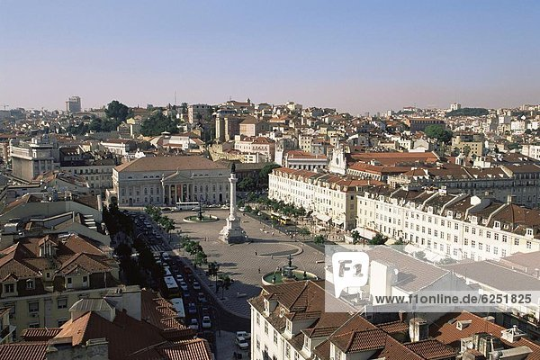 Lissabon  Hauptstadt  Europa  Infusion  Quadrat  Quadrate  quadratisch  quadratisches  quadratischer  Portugal  Rossio  Praça de D. Pedro IV