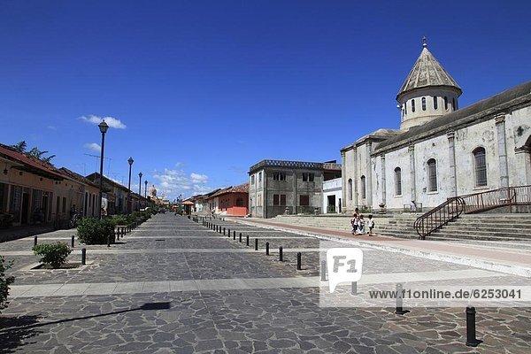 Calle La Calzada  Gra0da  Nicaragua  Central America