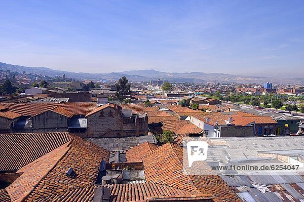 Rooftop city view  Bogota  Colombia  South America