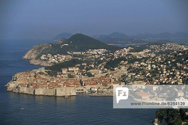 Europa Adriatisches Meer Adria Kroatien Dalmatien Dubrovnik
