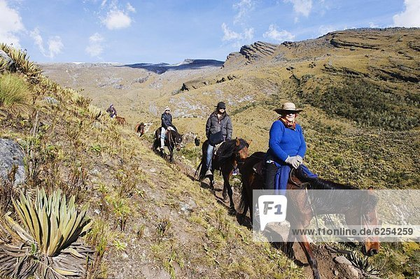 reiten - Pferd  Kolumbien  Südamerika