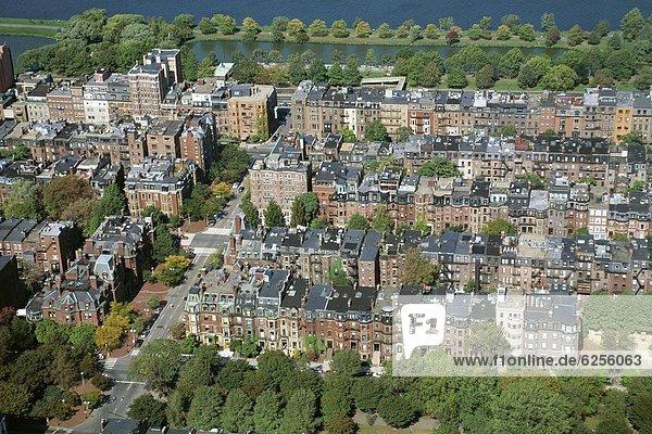 Rückansicht  Nordamerika  Neuengland  Ansicht  Zimmer  Luftbild  Fernsehantenne  Bucht  Boston  Massachusetts