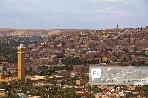 Nordafrika  über  Stadt  Ansicht  UNESCO-Welterbe  Afrika  Algerien