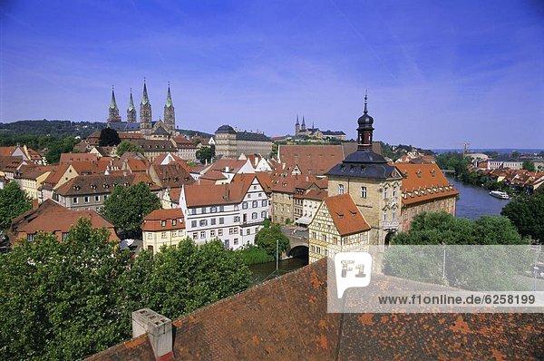 Europa UNESCO-Welterbe Bamberg Bayern Deutschland