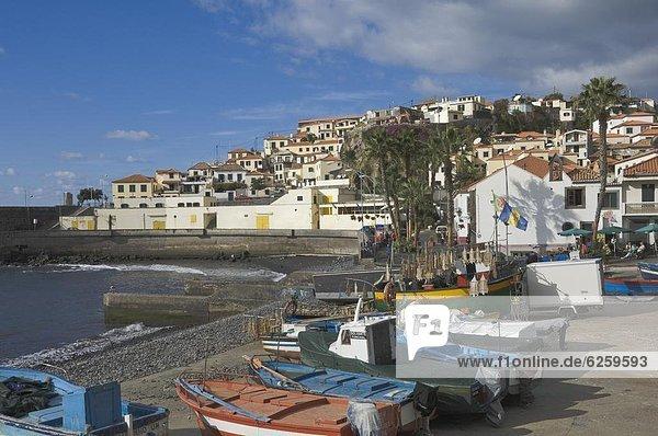 Europa  Dorf  angeln  Atlantischer Ozean  Atlantik  Madeira  Portugal