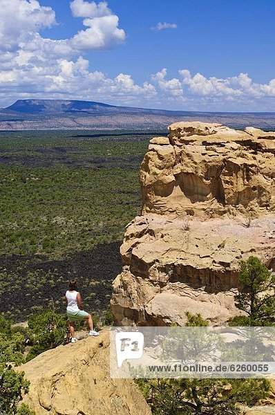 Vereinigte Staaten von Amerika  USA  Bett  Lava  Monument  Nordamerika  steil  New Mexico