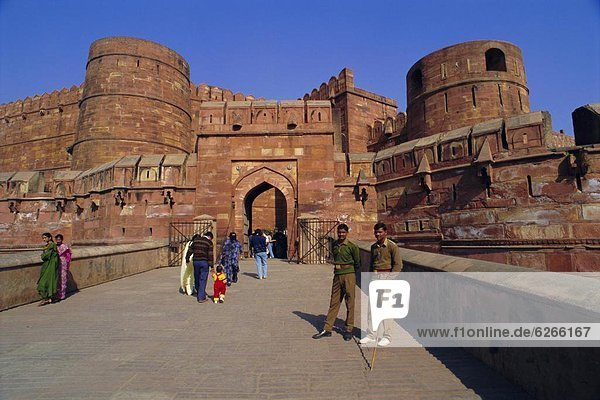 Ende  bauen  Agra  Indien