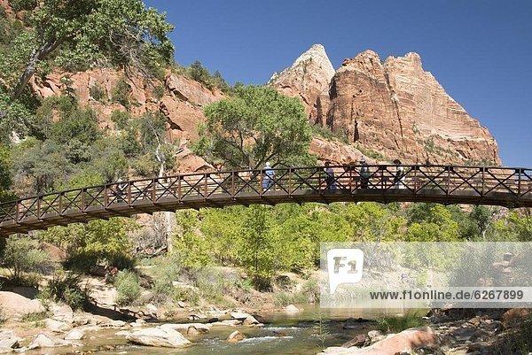 Vereinigte Staaten von Amerika  USA  Brücke  Nordamerika  Zion Nationalpark  Zugänglichkeit  Smaragd  Utah