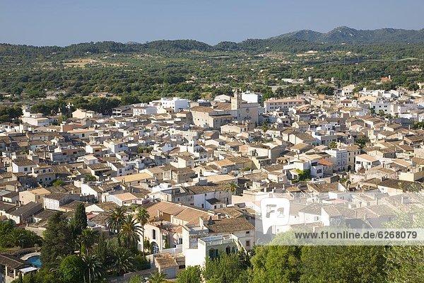 Europa  über  Stadt  Ansicht  Mallorca  Heiligtum  Balearen  Balearische Inseln  Spanien