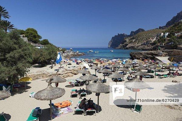 Cala San Vincente (Cala Sant Vicenc)  Mallorca (Majorca)  Balearic Islands  Spain  Mediterranean  Europe