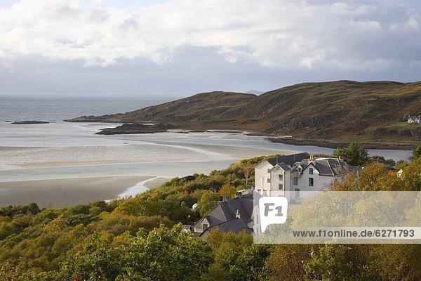 Europa Großbritannien Sand Ansicht Geräusch Silber Highlands Schottland