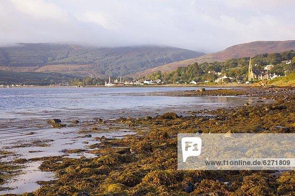 Wasser  Europa  Ruhe  Großbritannien  Morgendämmerung  Bucht  Schottland