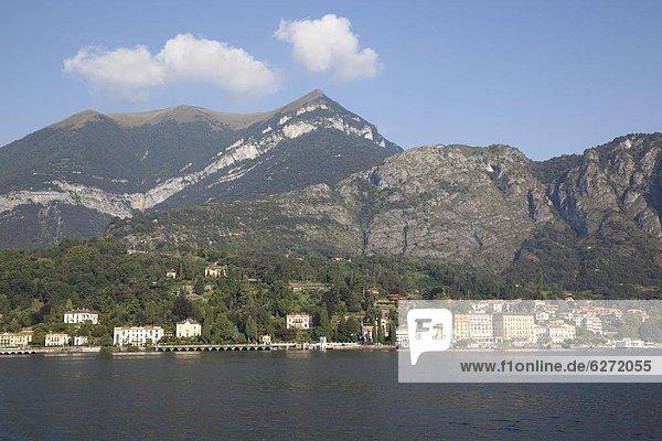 Europa  Stadt  Fähre  Italien  Ansicht  Comer See  Lombardei