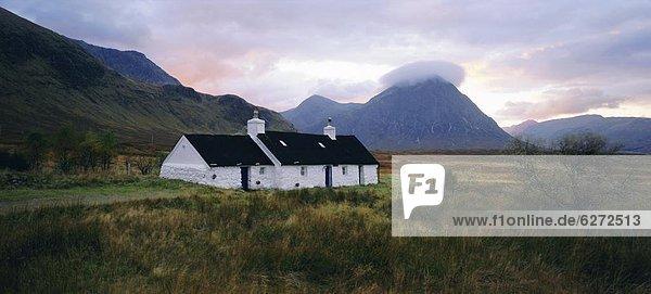 Europa Großbritannien Blackrock Cottage Schottland
