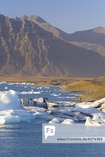 fließen  Eisberg  unterhalb  Island  Lagune