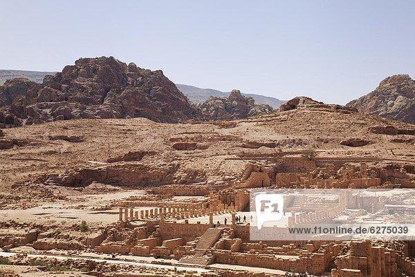 Ruine  groß  großes  großer  große  großen  Naher Osten  UNESCO-Welterbe  Petra