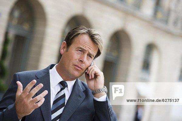 Business man on phone  Paris  France  Europe