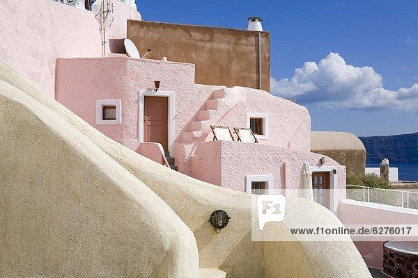 Oia village  Santorini Island  Cyclades  Greek Islands  Greece  Europe