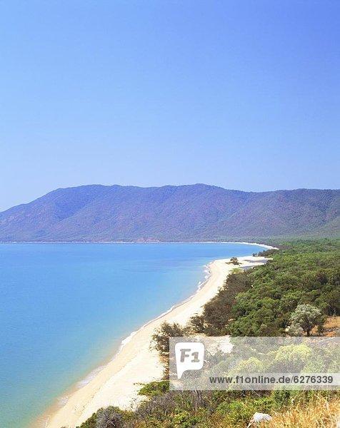 The coast between Cairns and Port Douglas on the Cook Highway  Queensland  Australia