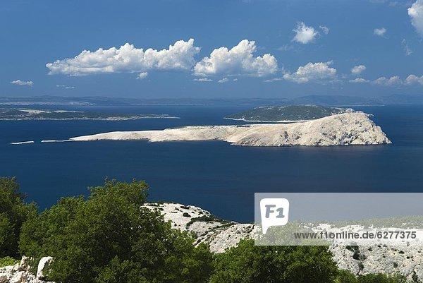 Europa  über  Insel  Ansicht  Adriatisches Meer  Adria  Kroatien