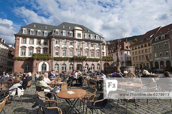 Europa  Halle  Stadt  Quadrat  Quadrate  quadratisch  quadratisches  quadratischer  Altstadt  Baden-Württemberg  Deutschland  Heidelberg  Markt