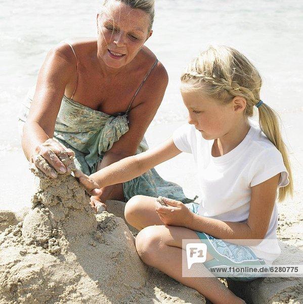 Strand  Produktion  Großmutter  Sandburg